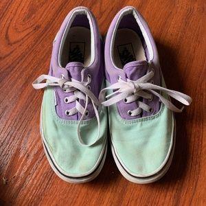 Vans two toned teal purple sneaker 7.5